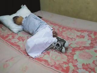 Indonesian hijabi girl wrap gagged