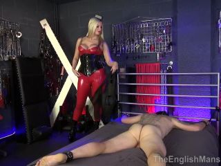 Whipping – The English Mansion – Broken By Her Strapon – Part 1 – Mistress Nikki Whiplash, crush fetish fish on fetish porn