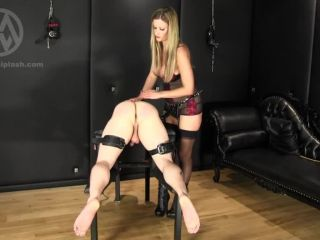 Mistress Nikki Whiplash – WL1267 Spanked Caned And Assfucked, nylon anal on strap on