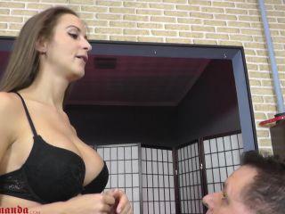 Cruel Mistresses - Amanda humiliates the slave - spitting on fetish porn
