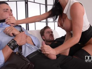 Stockings - The Bound Cuckold - A Horny Wife's Deep Throat Affaire