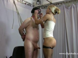 EXTREMELY CRUEL FACE SLAPPING clip with MILKING humiliation