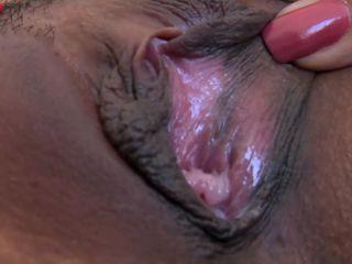 Sexy, petite Kina Kai using thick dildos into her tight snatch