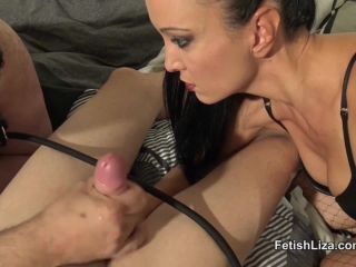 Milking – Fetish Liza – Cuckold cumeating humiliation part 2