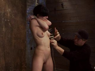 Kink_com - Choke out tieZippered, caned, tortured w/brutal orgasms, pulled to toes & crotch roped! INTENSE!