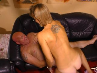 Conni - German granny is a blonde cheating slut who sucks a cock befor ...