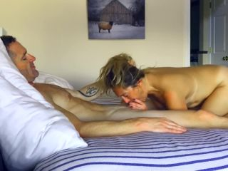 10117 Hubby fingers, licks and fucks his dirty talking wife