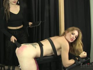 FetishPros - Missy Spanks Amber on Bench