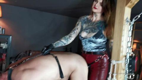 Miss Melisande Sin starring in video (Watch Me Enjoy My Male Slut In My Dungeon) [HD 720P]