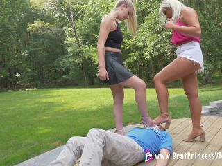 Brat Princess 2 – Ava, Chloe – Humiliate their Foot Slave Teacher (4K)