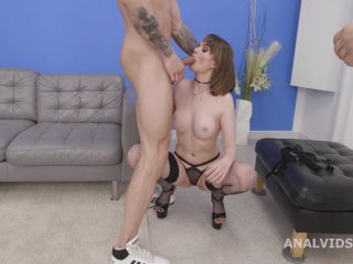 My first DP Goes Wet, Victoria Wet, 2on1, Balls Deep Anal, DP, Gapes, Pee Drink, Swallow GL463