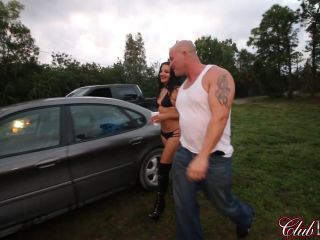 Outdoor – ClubDom – The Broken Down Car Trick – Alexis Fawx and Michelle Lacy