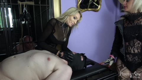 Lady Dark Angel and Mistress Athena starring in video (Spin the Wheel) of (Merciless Dominas) studio [FullHD 1080P]