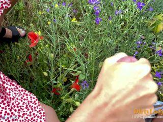 Dirty Lady - She is a Handhob while he Pees [FullHD 1080P] - Screenshot 5