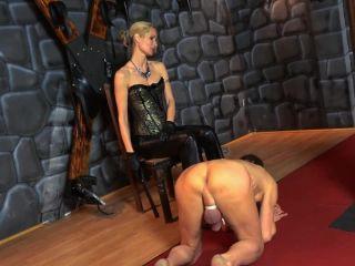SADO LADIES Femdom Clips — Overknee Spanking. Starring Empress Victoria