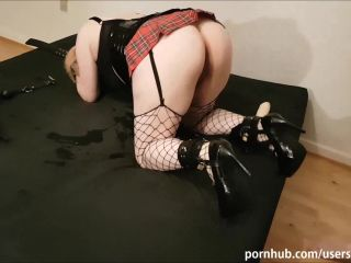 Slave Girl Spanked and Ass Fucked Deep with Toys until she Screams