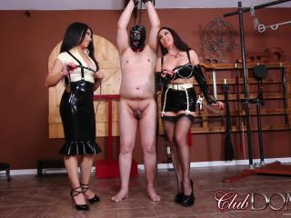 Femdom Female Domination – ClubDom – Jewell And Tangent Whip The Ass Slave