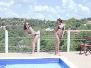 Latina girls Lady Milf and Polly Petrova enjoy deep fisting and double penetration