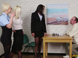 Pure CFNM – Amber Deen, Angelina Elise, Barbie Sins – Straight Jacket Liberties
