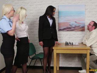 Pure CFNM – Amber Deen, Angelina Elise, Barbie Sins – Straight Jacket Liberties