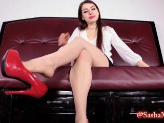 Goddess Sasha Mizaree – Secretary dominates boss with heel dangle   femdom   femdom porn femdom and slave
