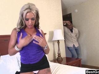 Big titted can jay gets face fucked by big black cock!