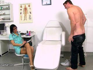 handjob - Leggy doctor Milf Bibi sucking fat dick at sperm clinic – Sperm Hospital