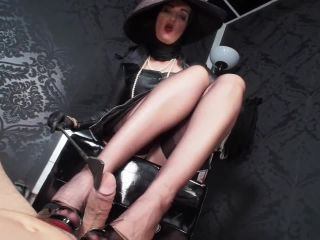 GERMAN FEMDOM Lady Victoria Valente  RPG: Rich lady with hat tease & denial riding grop and heelsjob game