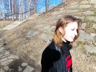MihaNika69 - Public Blowjob Outdoors under the Bridge - POV