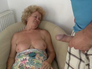 Granny Effie gets banged after foot fetish