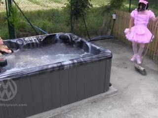 femdom sissy humiliation Mistress Nikki Whiplash: Hot Tub Sissy Supervision Wl1429, sissy maid training on feet porn