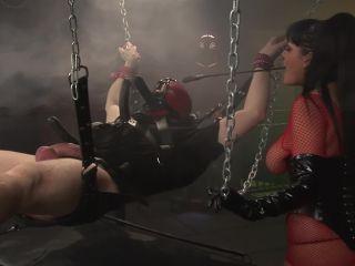 Big tit jasmine black rides her sex slaves huge cock till he  on her ti*
