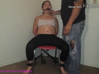 Tortured and forced orgasms of tied Lady Lace