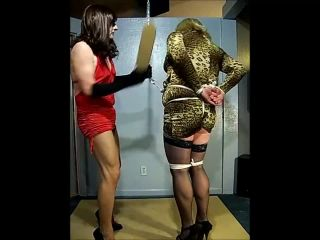 Mature crossdressing sluts Gina Cynthia bound play