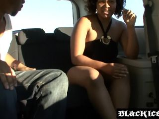 Chubby ebony bent over and fucked by bbc before tasting cum!