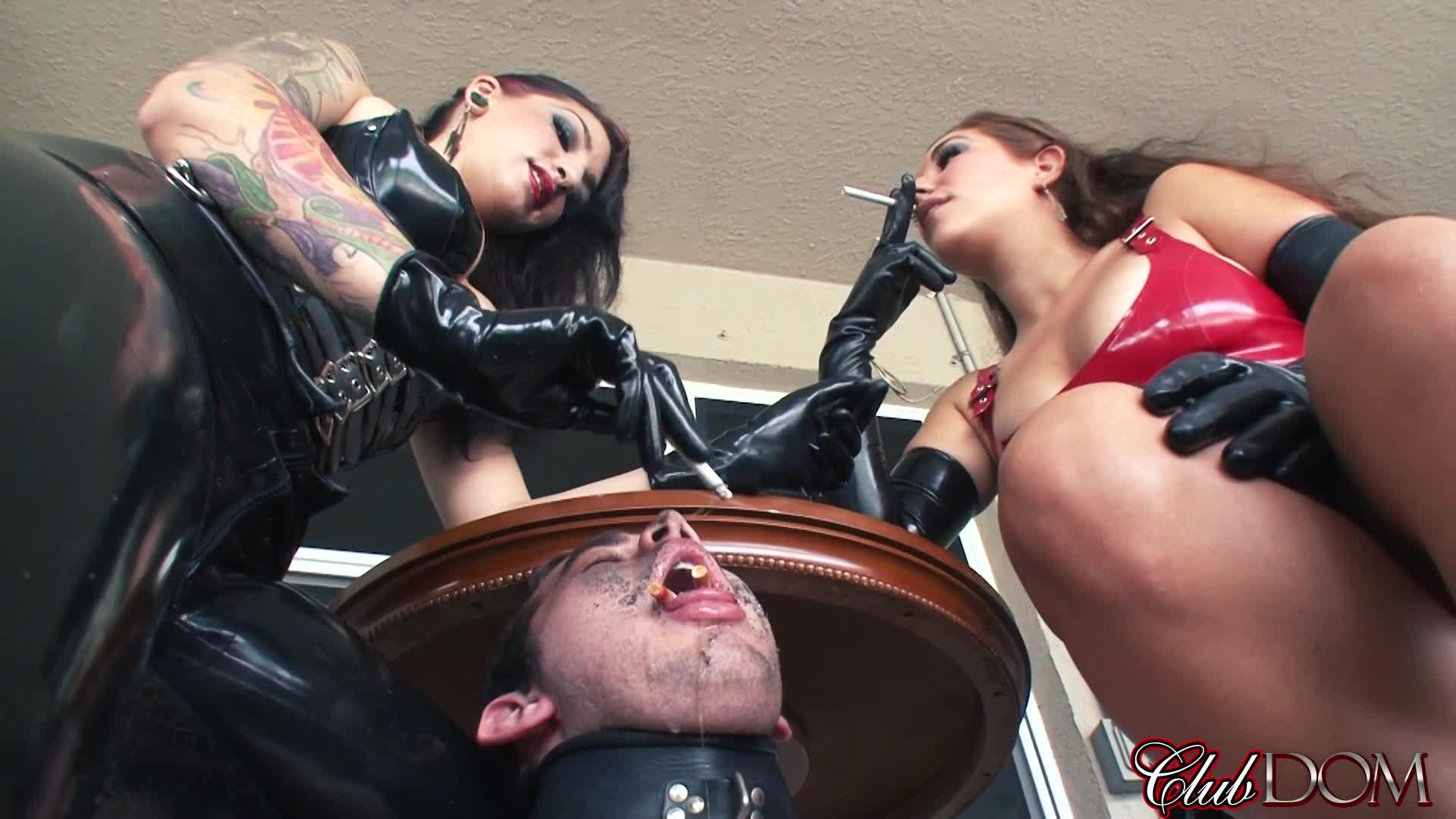 Mistress Face Fucks Slave