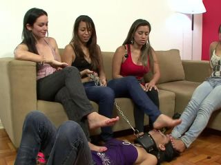 Foot domination – BRAZIL FEET – Lick Four Princesses's Delicious Feet part 5