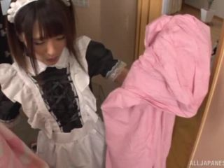 Awesome Asian maid Natsune and friends in female gangbang action Video Online