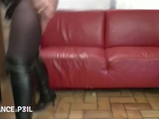 Two fists leg into BBW mature Kate's pussy