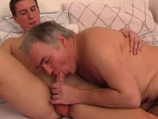 Honry daddy lets step son fuck bareback