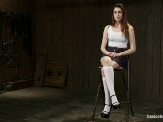 The Harder the Bondage the Harder they Cum: Innocent Brunette Demolished - Kink  December 25, 2013