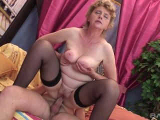 Gran-Mama With A Massive Patch Of Pussy Hair Rides A Cock And Gets A F ...
