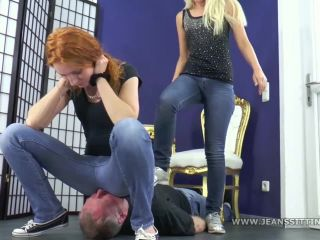 Boss Girls Lady Amy and Princess Serena in The hardest jeans-sitting session of his life! – $14.99