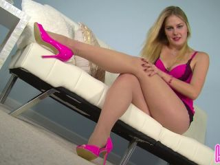 Online video femdom humiliatrix – goddess vika gives her foot slave a nine-and-a-half inch reward