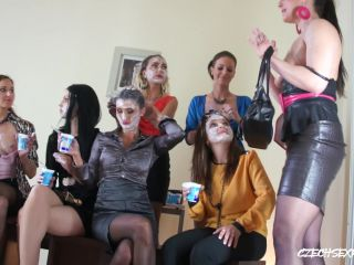 Czech Sex Party Lesbian Yoghurt Party 2
