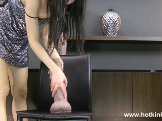 Huge dildo from Mr. Hankey toys deep ass movie