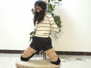 Asian Girls Bound and Gagged china rope bondage shibari ballgag