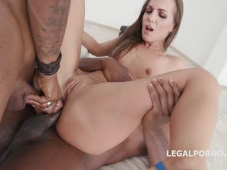 Double Anal Creampie Kristy Black gets 2 BBC with