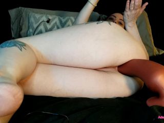 AdalynnX - XL Slink Deep in My Butt (pregnant+monster slink dildo anal)