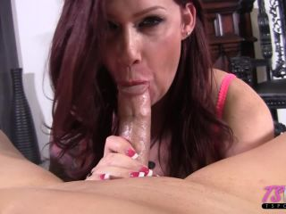 Tspov presents Raven Roxx in busty TS MILF gets dicked down